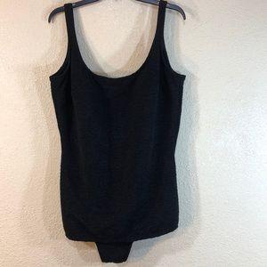 Swimsuit Black One Piece Size 26W